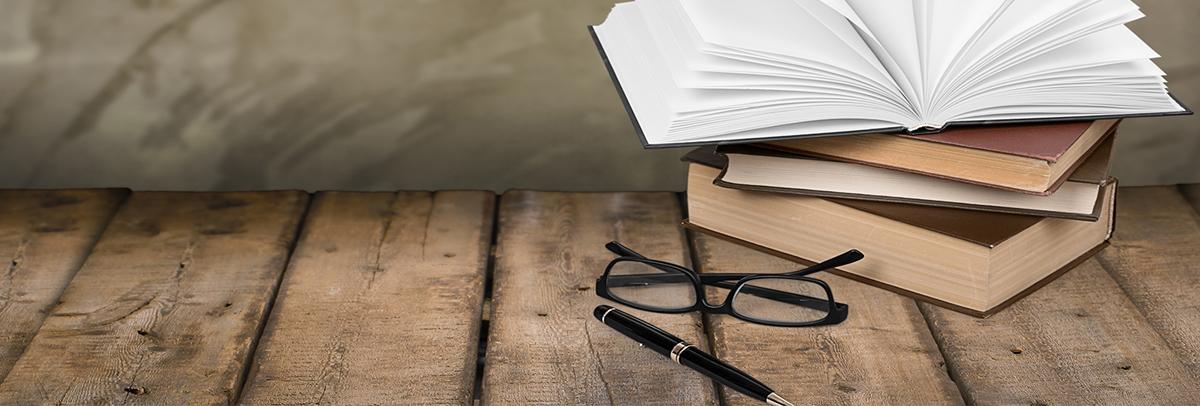 Book. Fountain pen books and glasses